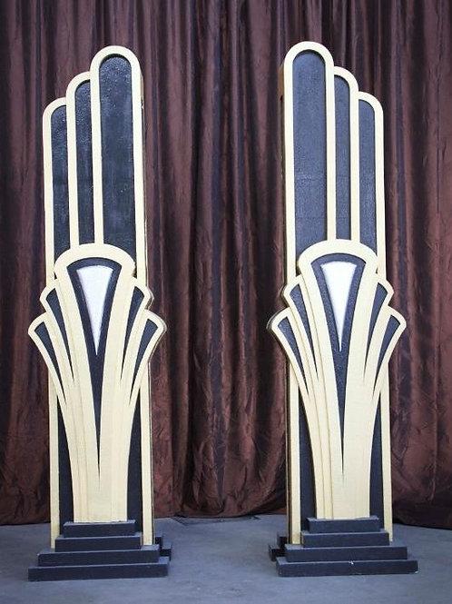 Art Deco Columns Rental Prop