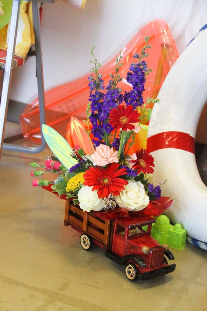 Classic Truck Fresh Flower Centerpieces