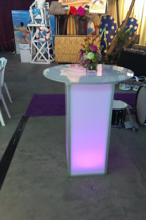 LED Round Cocktail Table Rental