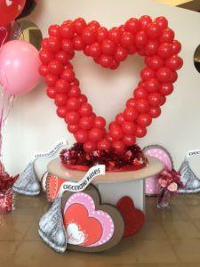 balloons, balloon heart, balloon sculpture, The Party Concierge
