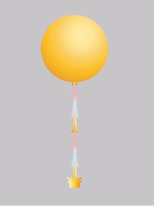 3' Balloons with Tassels