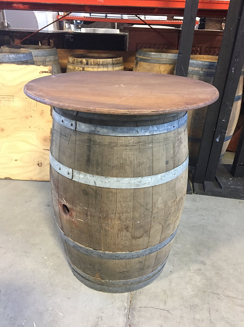 Wine Barrel Cocktail Table