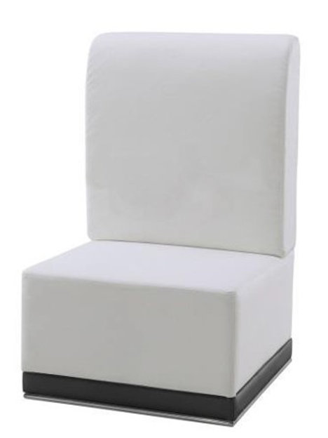 White Leather Highback Chair Rental