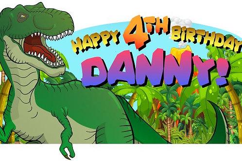 Dino Happy Birthday Banner