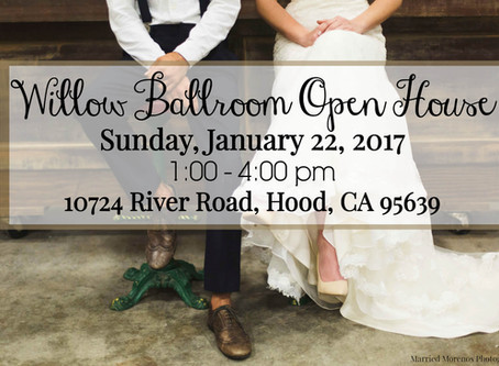 Join The Party Concierge, preferred vendor @ Willow Ballroom for an Open House Jan. 22nd!