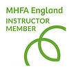 MHFA Instructor Member Badge_White Small