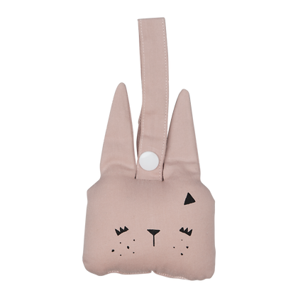 Animal rattle konijn mauve