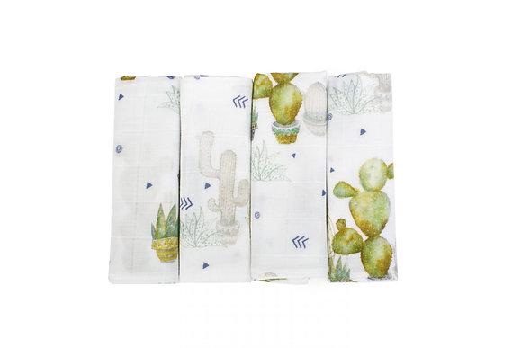 Cactus tetra doeken 4st