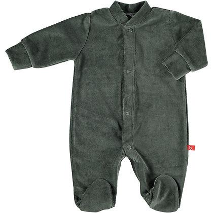 Pyjama velours dark grey