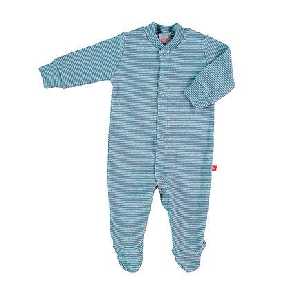 Pyjama frontal denim streepjes