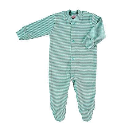 Pyjama frontal groen streepjes