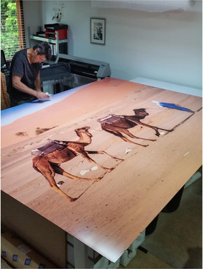 Large Mounted Print...