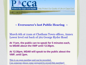 The last Eversource hearing for Public Comment --in Chatham