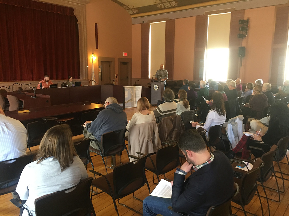 Eversource's first Public Hearing at Sandwich town hall on March 1st, 2018
