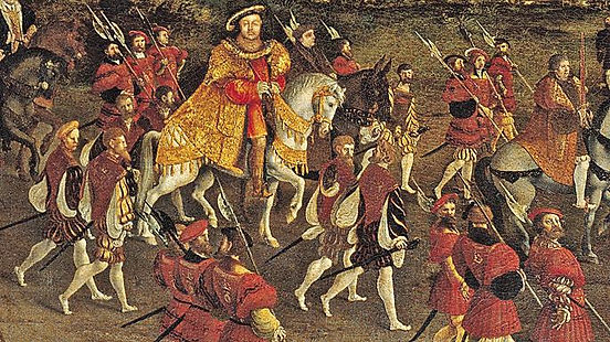 T9-3- Henry VIII at  Field of CofG - The