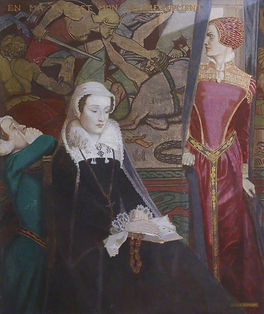 2a-Mary Stuart at Fotheringhay -painting by John Duncan.jpg