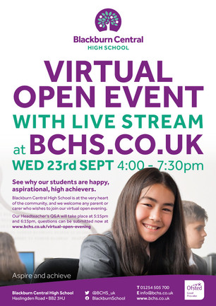 Virtual Open Event Poster