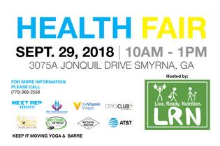 .Health Fair Banner.