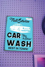.Working at The Car Wash.
