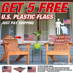 2021 U.S. Plastic Flags