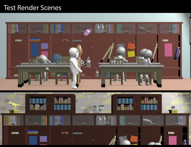 3D ENVIORMENT TEST RENDER