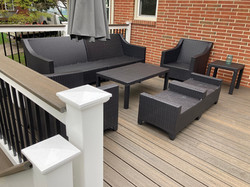 New Furniture on a new deck! Place your glass of iced tea on that drink rail!