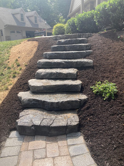 New safe stairs and mulching