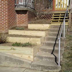 Raised beds - steps will stay clean