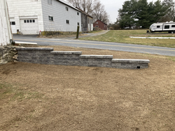 Versalok retaining wall, antique gray - replacing an old worn out railroad tie wall