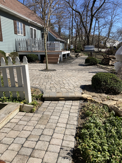 Re-layed this circular patio - organization was key