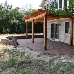 Pergola and a patio almost complete