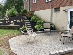 New patio and walls, fresh coat of mulch