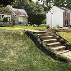 Landscape design and mulching