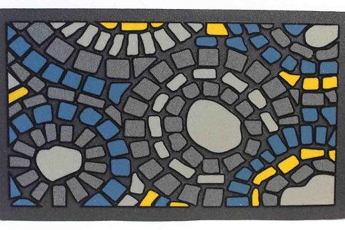 Felpudo con dibujo mosaico de goma y poliamida