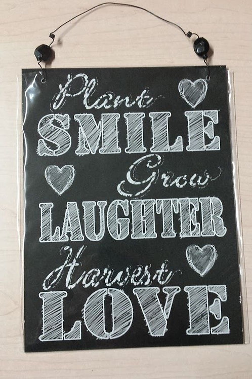 Cuadro de madera colgador Smile