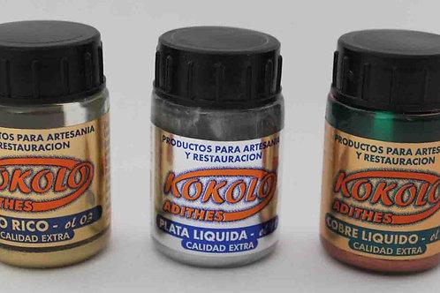 ORO LÍQUIDO, colores Oro, Plata y Cobre 40 ml