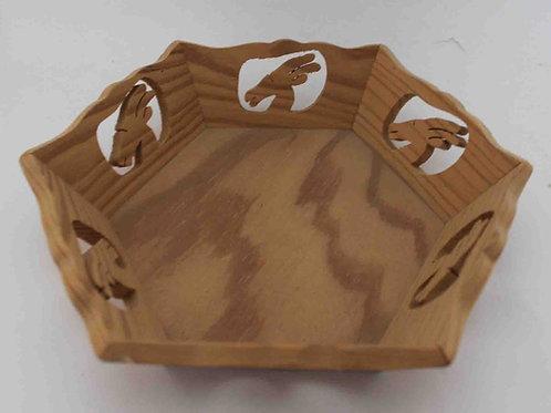 Bandeja de madera tallada - ciervos