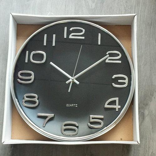 Reloj de pared diámetro 33 cm fondo negro