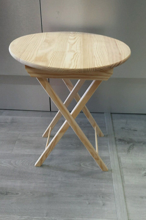 mesa madera redonda plegable, dos posiciones