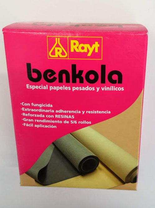 Cola en polvo para empapelar BENKOLA especial papeles pesados y vinílicos 200 gr