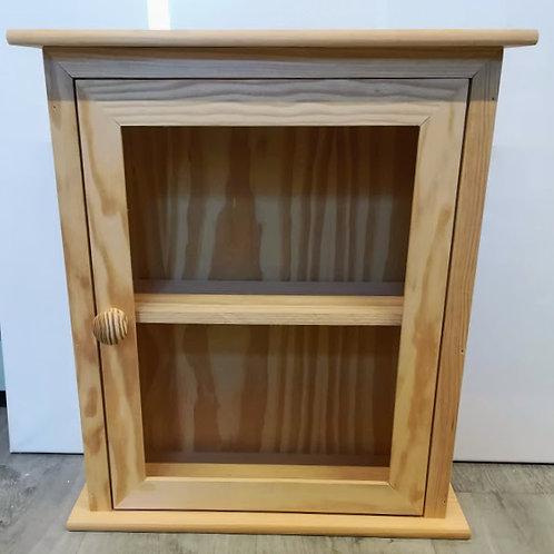 Armario Botiquín o Vitrina de madera con puerta y balda