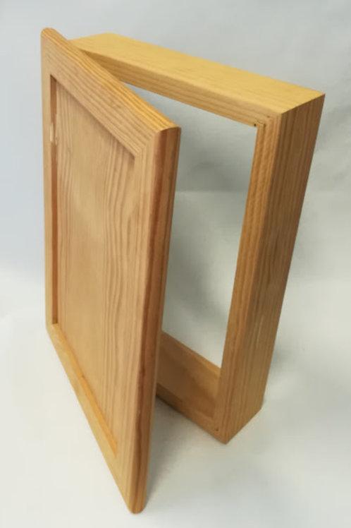 Tapacontador cuadro de luz de madera maciza 36x26 cm
