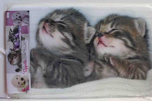 Alfombra baño pareja de gatos