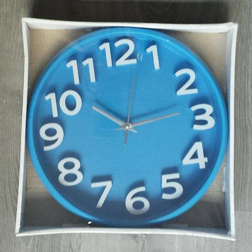 Reloj pared redondo color azul diámetro 29 cm
