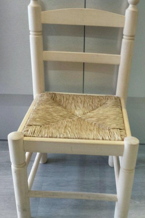 Silla madera asiento de enea38x69x33cm
