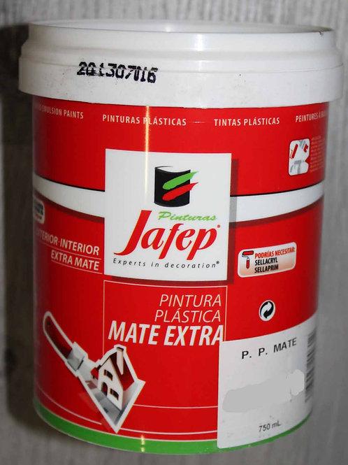 Pintura PLÁSTICA MATE EXTRA BLANCO. 750 ml.
