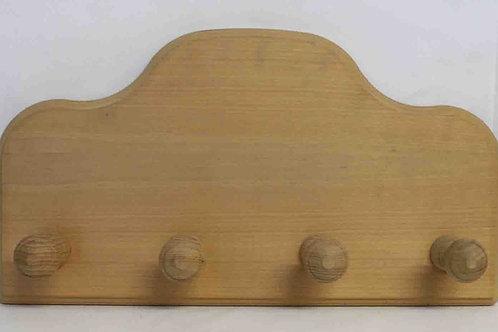 Perchero de madera con cuatro colgadores