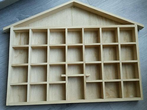 Vitrina casa de madera para colgar