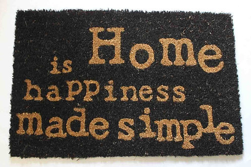 "Felpudo coco, ""is Home happiness made simple"""