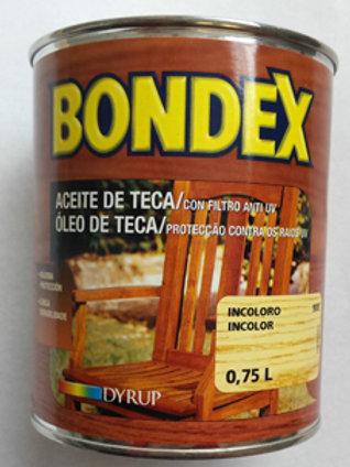 BONDEX ACEITE DE TECA CON FILTRO ANTI UV 0,75 L.